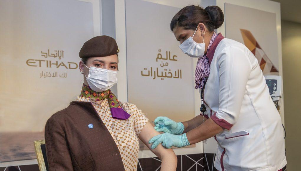 Etihad Airways crew vaccinated