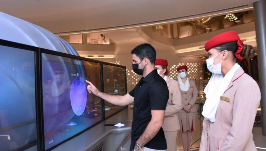Mikel Arteta at Expo 2020 Dubai Pavilion